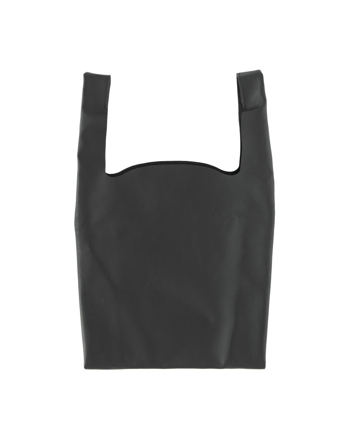 Photo: Maison Margiela Leather Shopping Bag Black