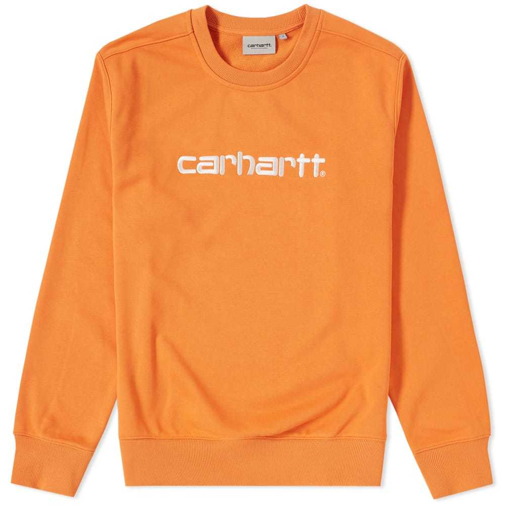 Photo: Carhartt Embroidered Logo Crew Sweat Orange
