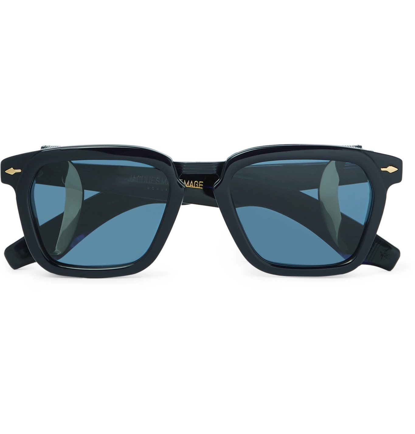 Photo: Jacques Marie Mage - Borodino Square-Frame Acetate Sunglasses - Blue