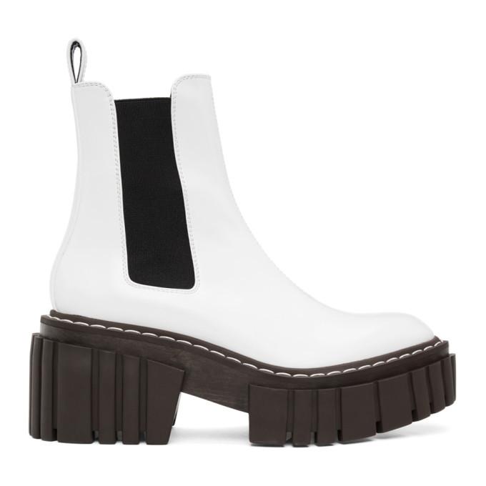 Stella McCartney White Emilie Chelsea Boots