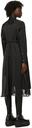 Sacai Black Poplin & Satin Shirt Dress