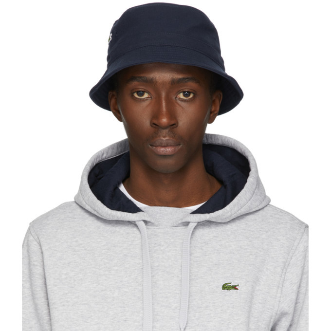 Photo: Lacoste Navy Cotton Bucket Hat