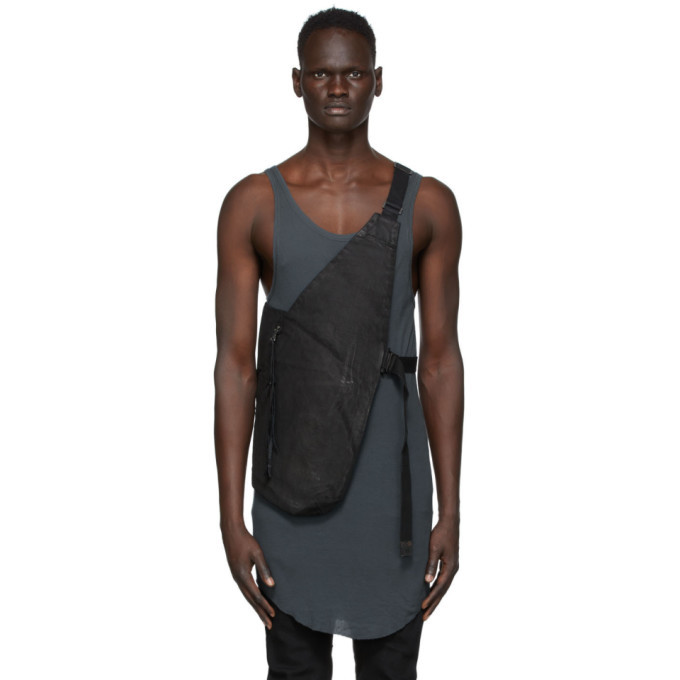 Photo: Boris Bidjan Saberi Black Vinyl Cotton Vest Bag