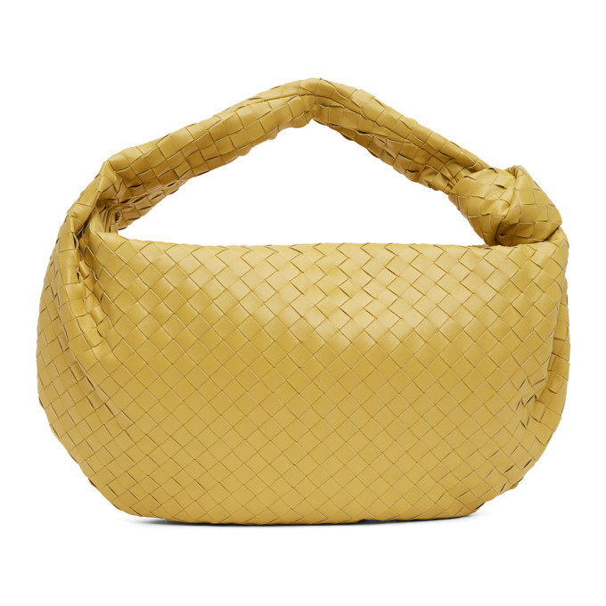 Photo: Bottega Veneta Yellow Intrecciato BV Jodie Bag