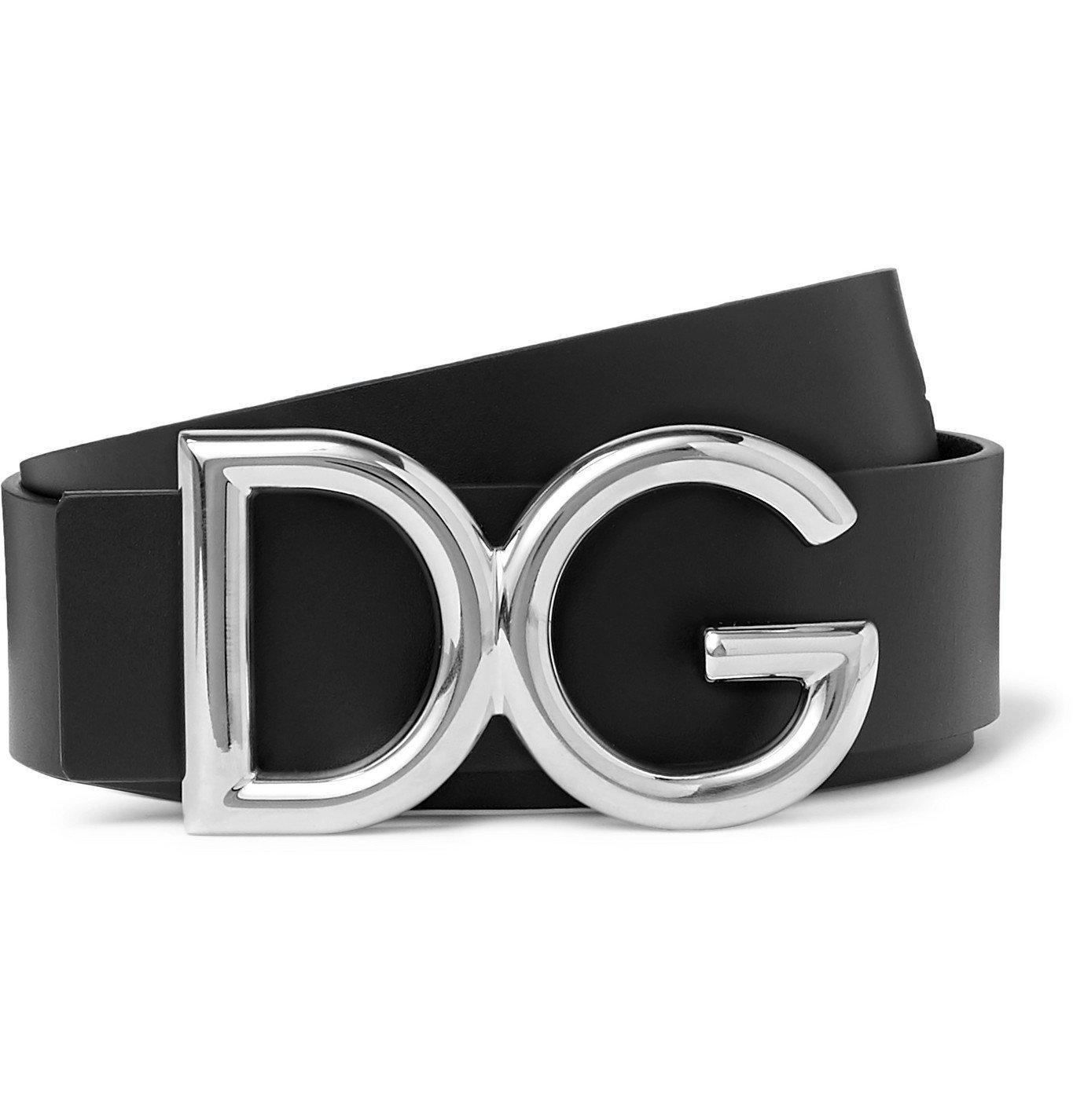 Photo: Dolce & Gabbana - 3.5cm Leather Belt - Black