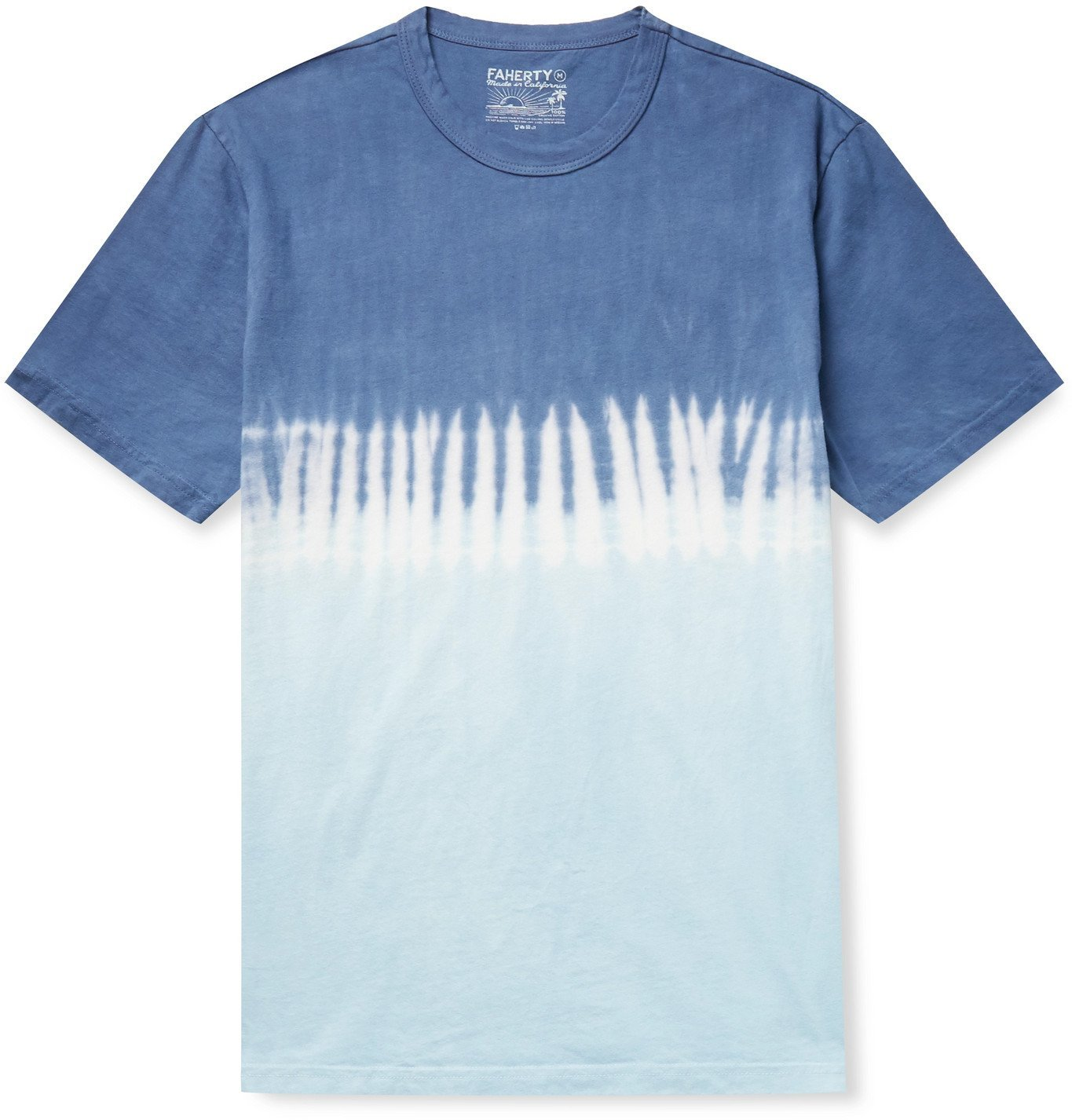 Photo: Faherty - Tie-Dyed Organic Cotton-Jersey T-Shirt - Blue