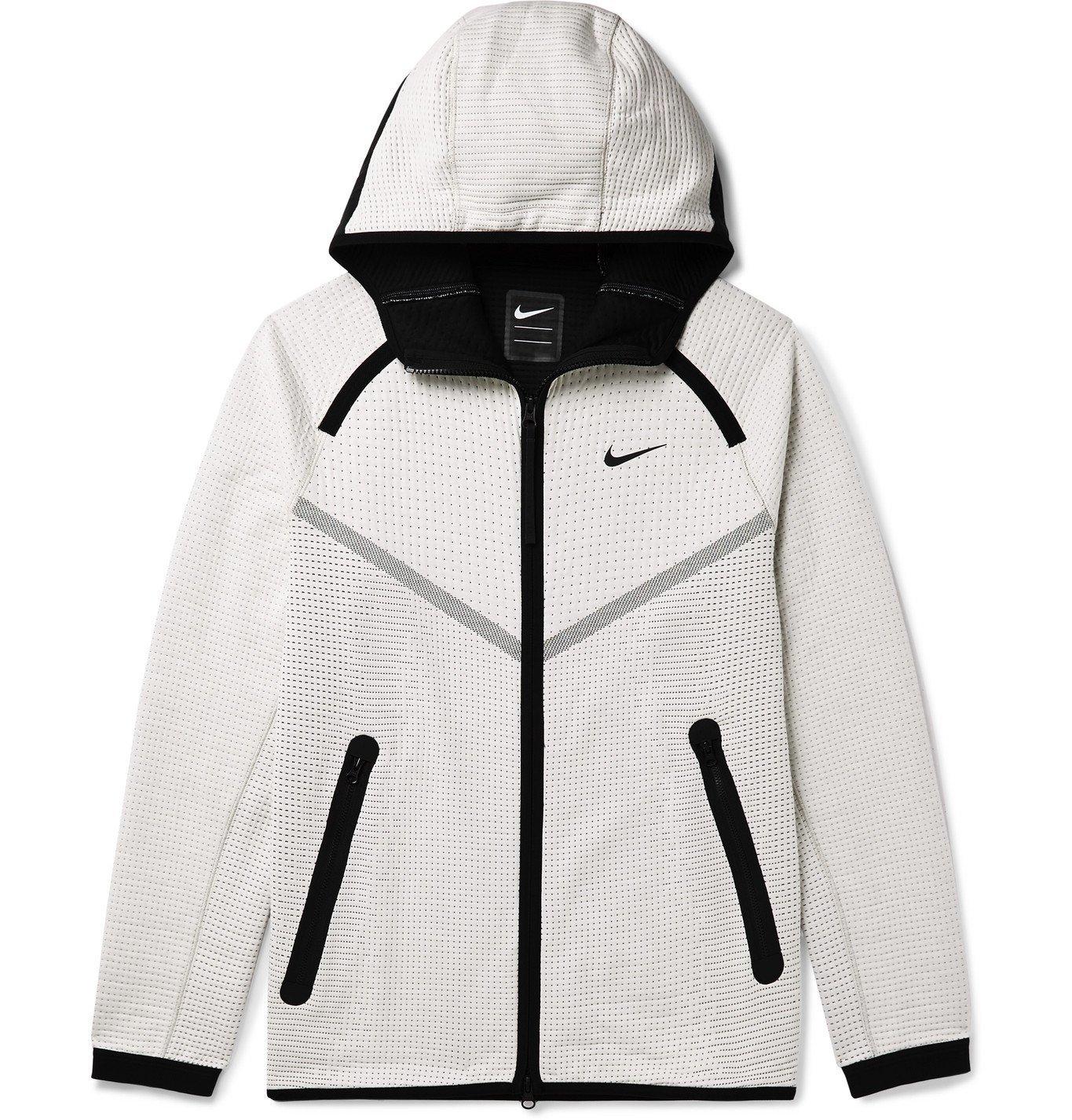 Photo: Nike - Embroidered Neoprene Hooded Jacket - Neutrals