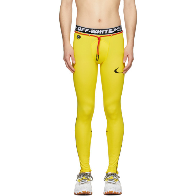Photo: Nike Yellow Off-White Edition NRG RU Pro Sport Leggings
