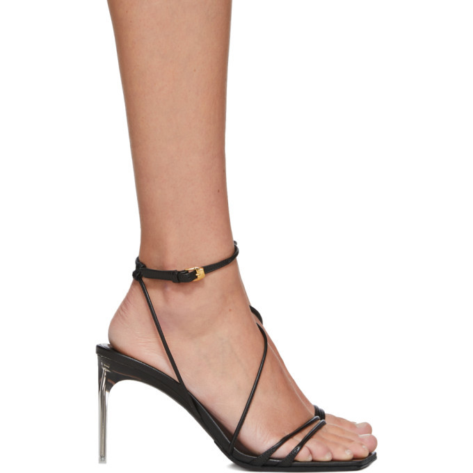 Photo: Versace Black Antheia Heeled Sandals