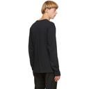 Acne Studios Black Logo Long Sleeve T-Shirt