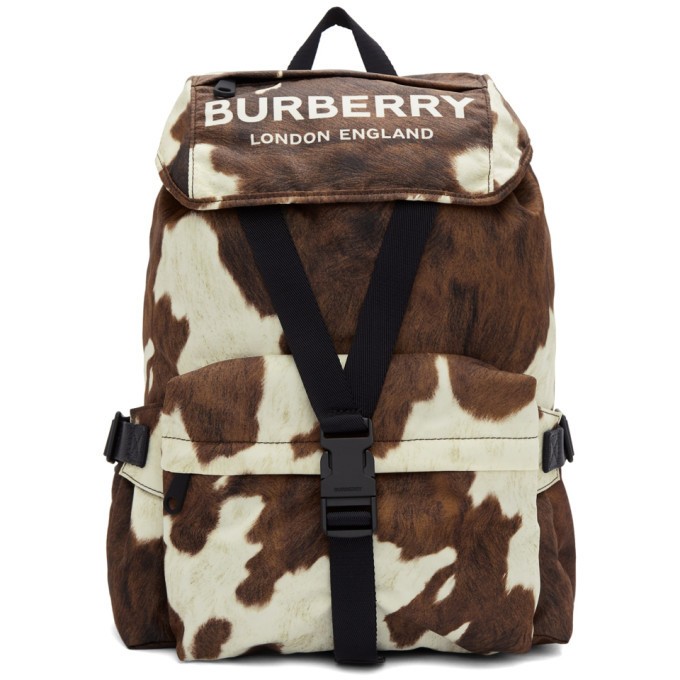 Photo: Burberry Brown and White Small Wilfin Backpack