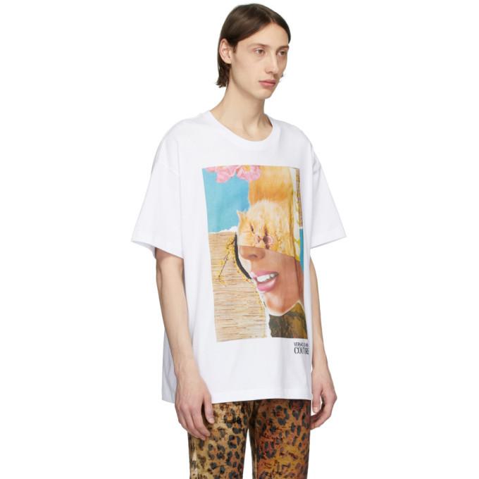 Versace Jeans Couture White Rosa Burgess Edition Print T-Shirt