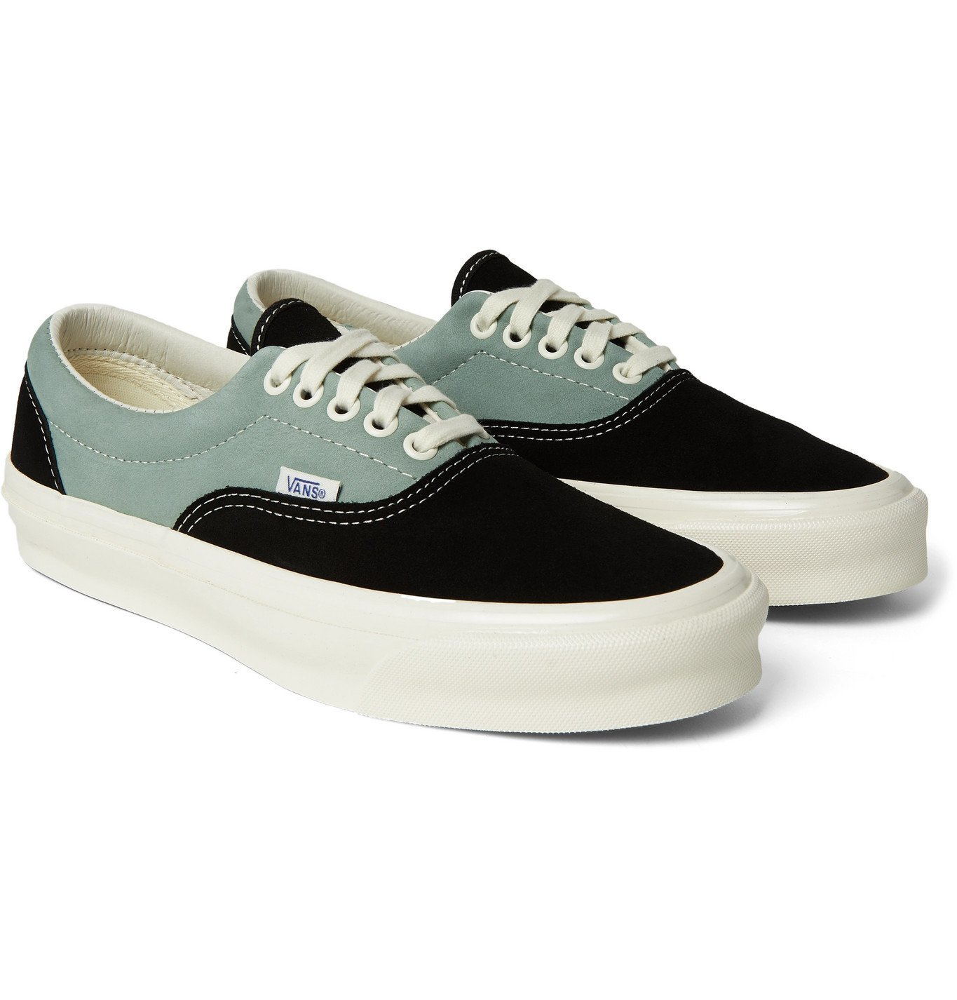 Photo: Vans - OG Era LX Colour-Block Suede and Nubuck Sneakers - Black