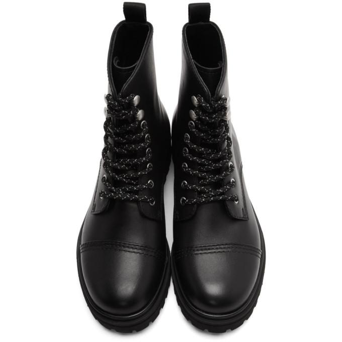 Versace Jeans Couture Black Combat Boots