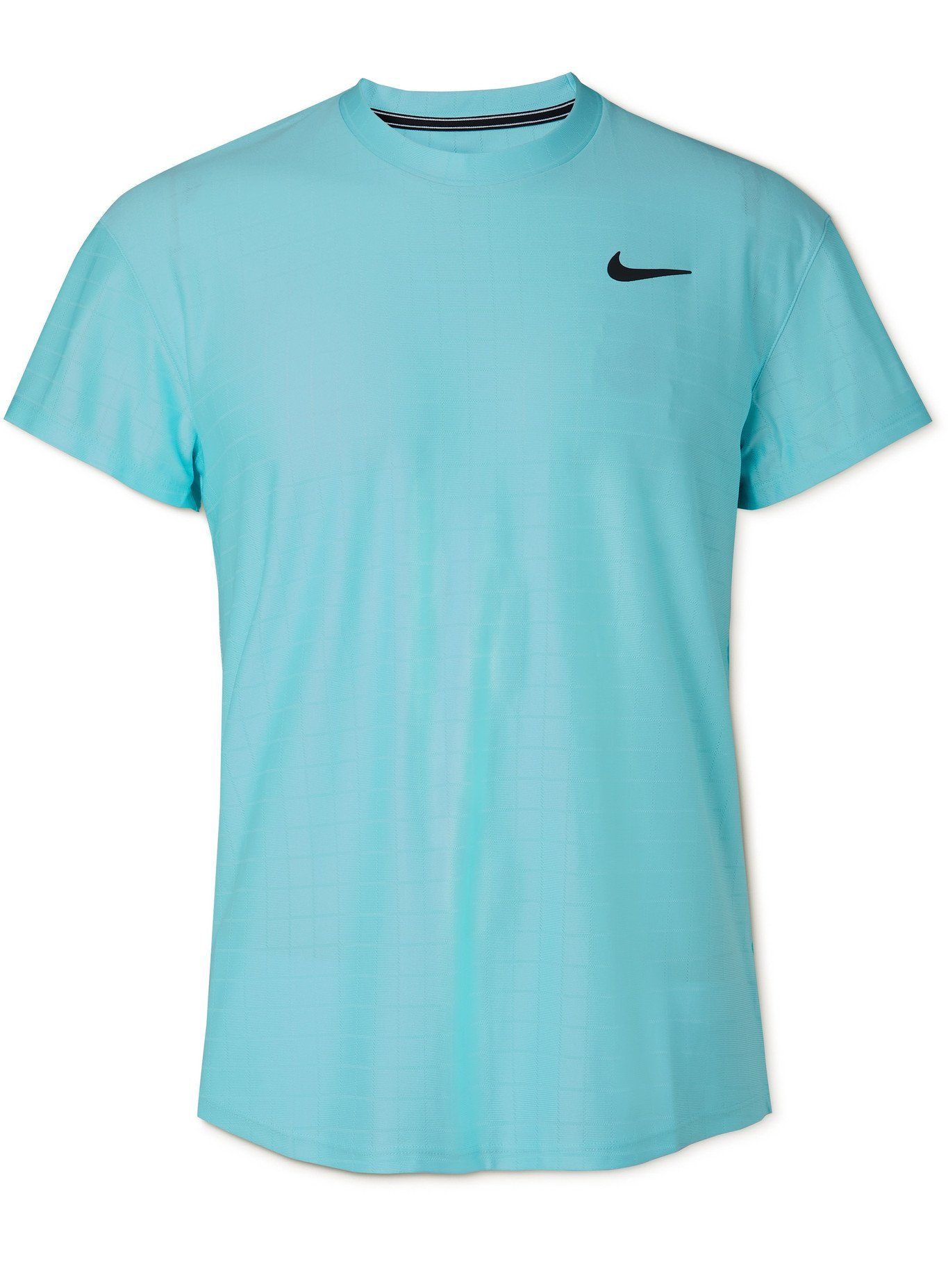 Photo: NIKE TENNIS - NikeCourt Advantage Dri-FIT Tennis T-Shirt - Blue