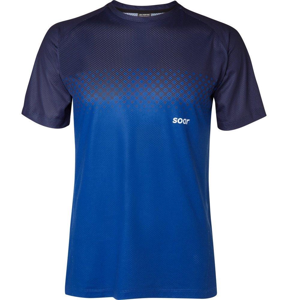 Photo: Soar Running - Two-Tone Mesh T-Shirt - Blue