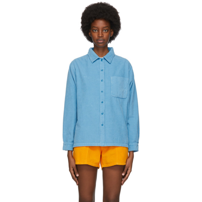 Photo: ERL Blue Corduroy Shirt