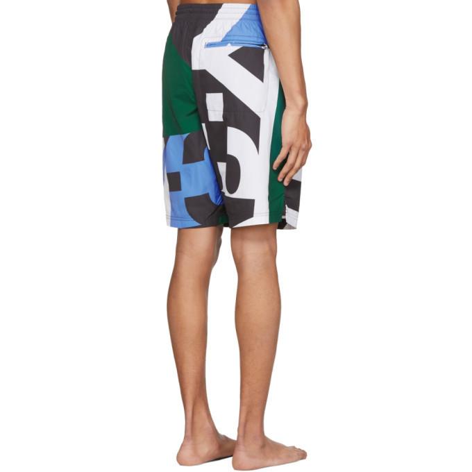 Y-3 Multicolor AOP Swim Shorts