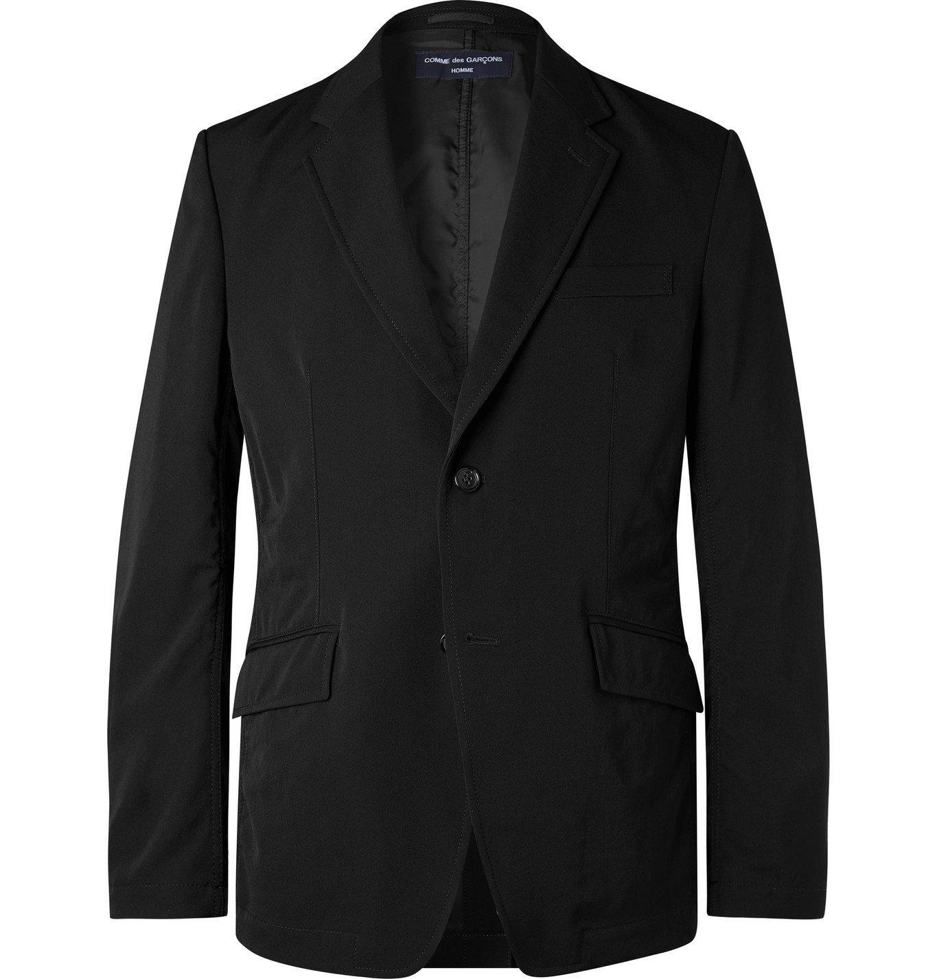 Photo: Comme des Garçons HOMME - Black Slim-Fit Wool-Gabardine Suit Jacket - Black
