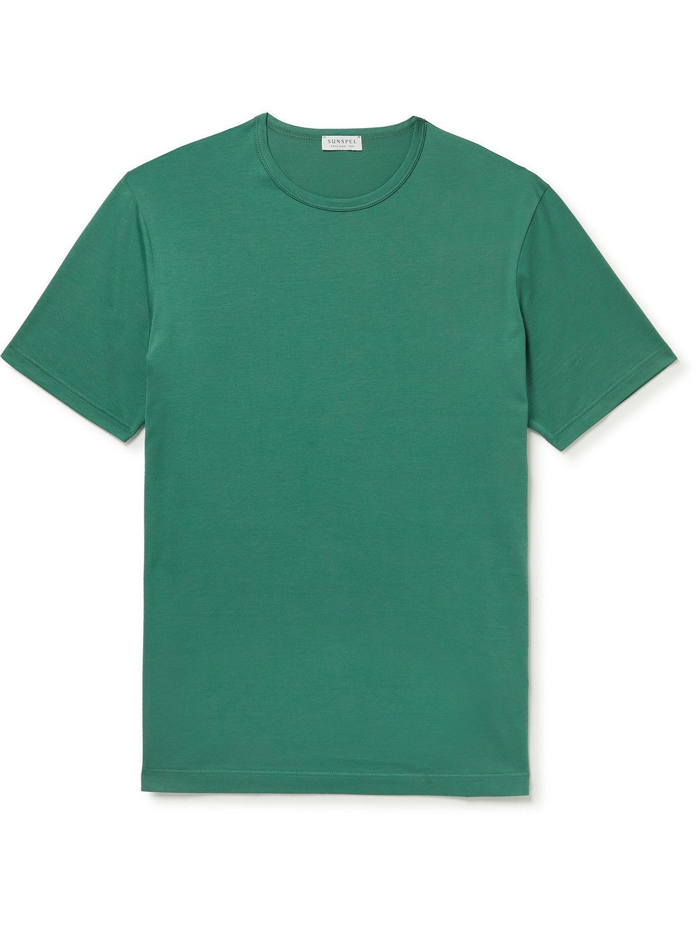 Photo: Sunspel - Cotton-Jersey T-Shirt - Green