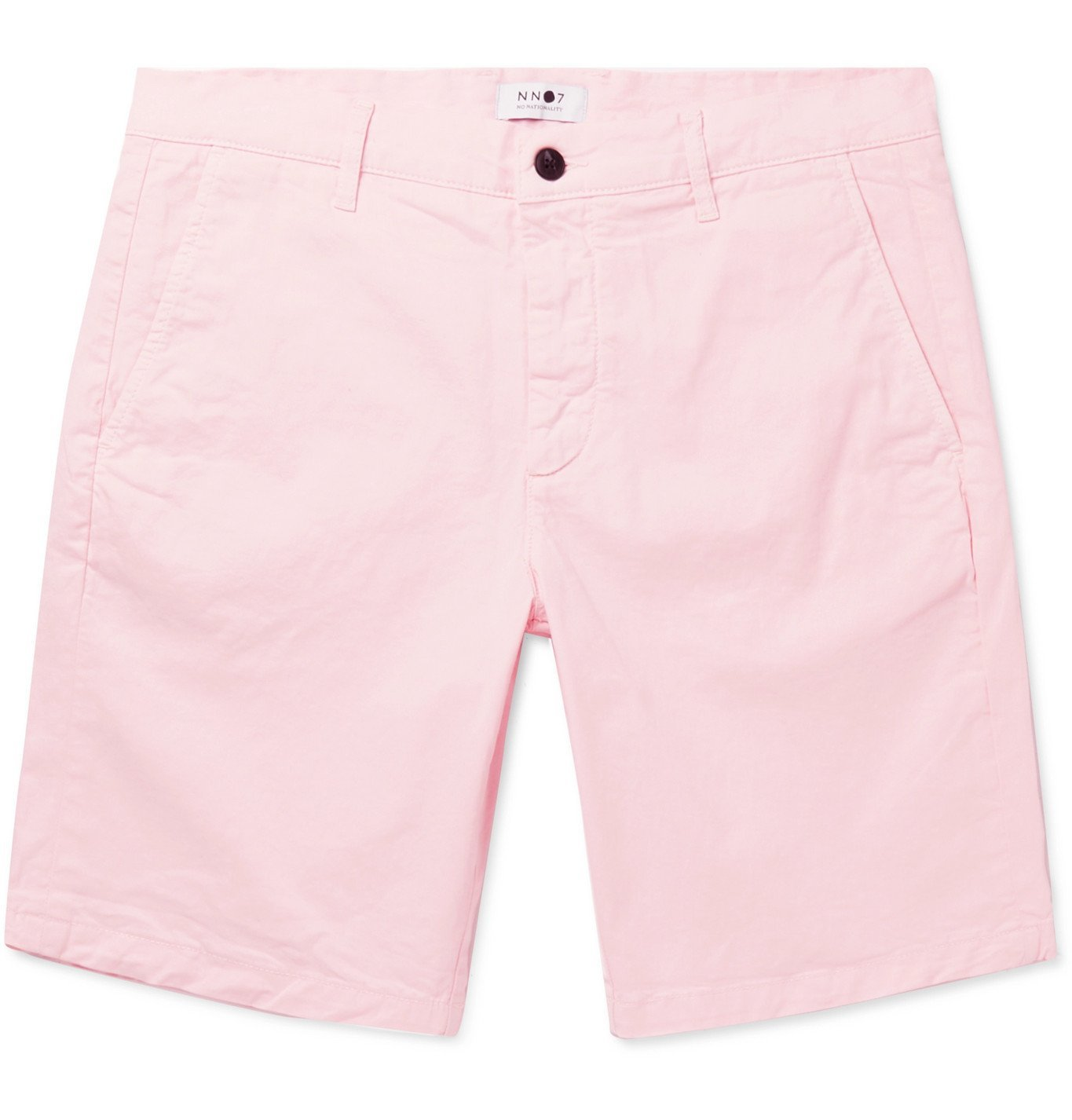 Photo: NN07 - Crown Slim-Fit Stretch-Cotton Twill Shorts - Pink