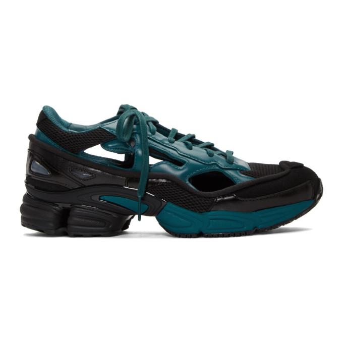 Photo: Raf Simons Black and Blue adidas Originals Edition Ozweego Replicant Sneakers