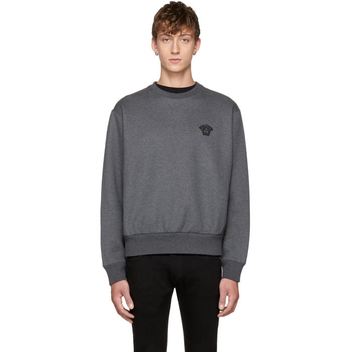 Grey Small Medusa Sweater Versace Free Shipping Latest Collections Store Sale Online Factory Outlet Inexpensive VTx3l4g