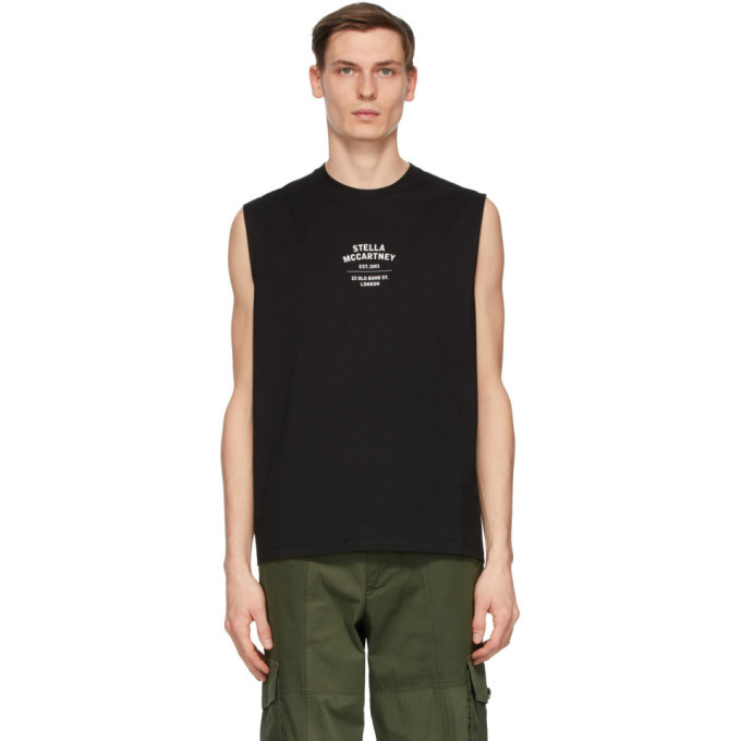 Photo: Stella McCartney Black Shared OBS 23 Sleeveless T-Shirt