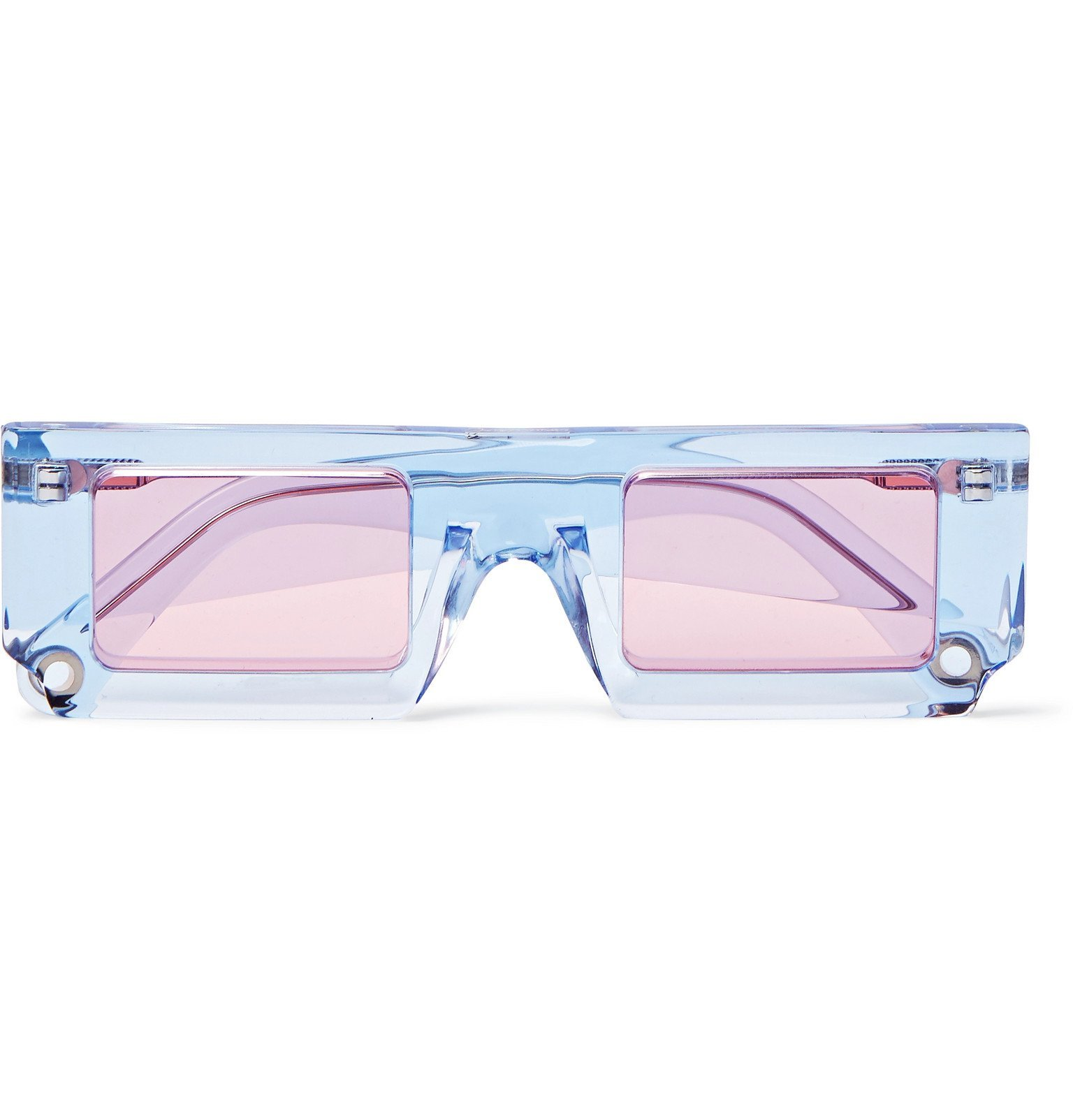 Photo: Jacquemus - Square-Frame Acetate Sunglasses - Blue