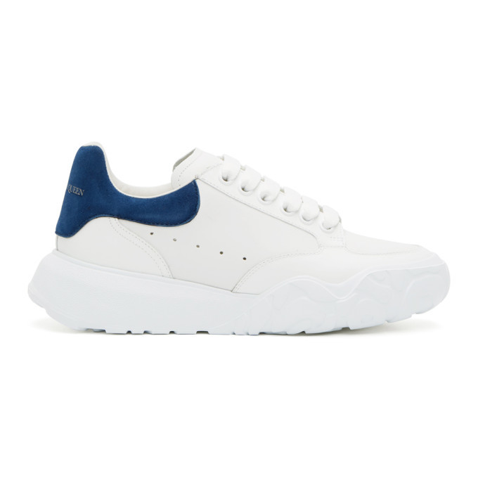 Photo: Alexander McQueen White and Blue Low Sneakers