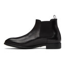 Giorgio Armani Black Beatle Chelsea Boots