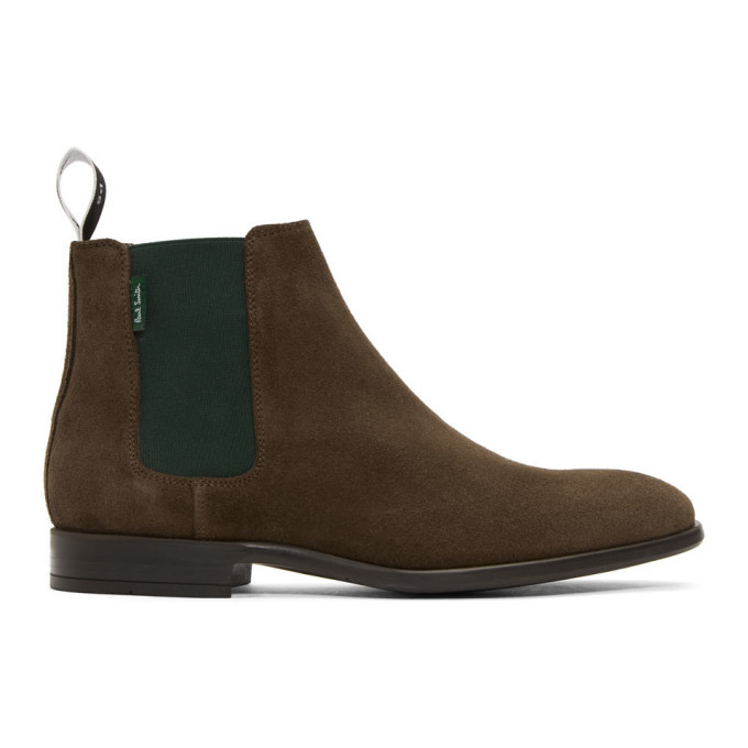 Photo: PS by Paul Smith Brown and Green Gerald Chelsea Boots