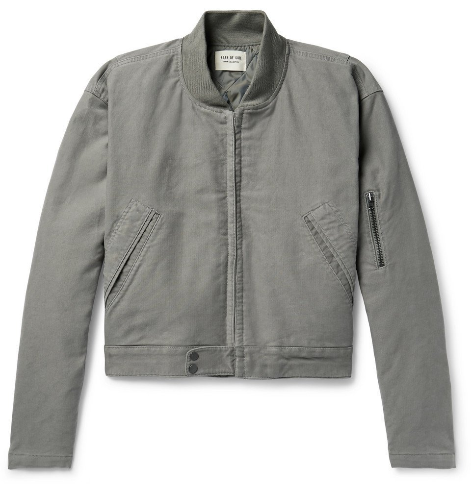 Photo: Fear of God - Logo-Appliquéd Cotton-Corduroy Jacket - Gray
