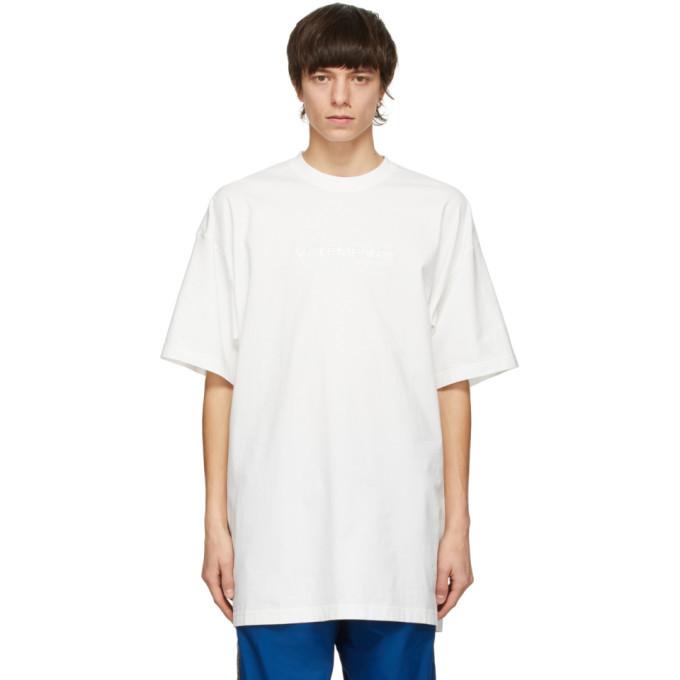 Photo: VETEMENTS White Haute Couture Logo T-Shirt
