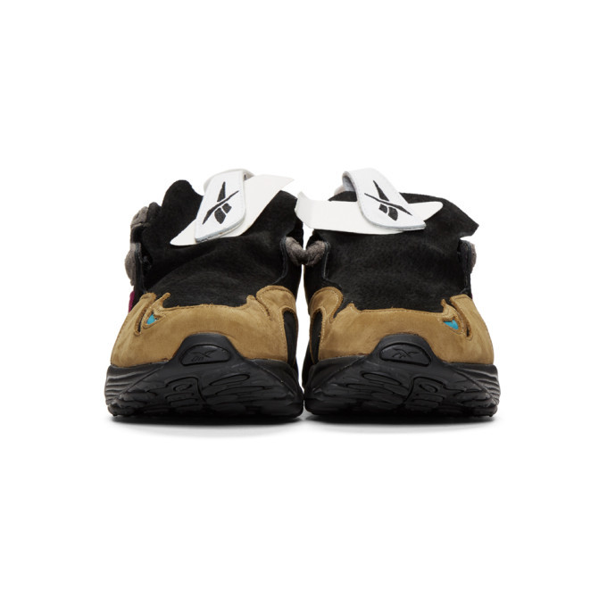 Reebok by Pyer Moss Gold and Black Daytona DMX Experiment Sneakers