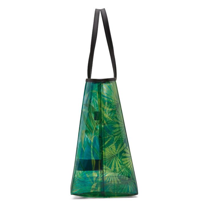 Versace Green PVC Jungle Tote