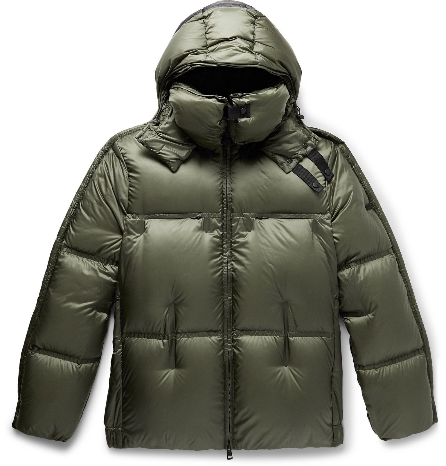 Photo: Moncler Genius - 5 Moncler Craig Green Maher Colour-Block Quilted Shell Hooded Down Jacket - Green
