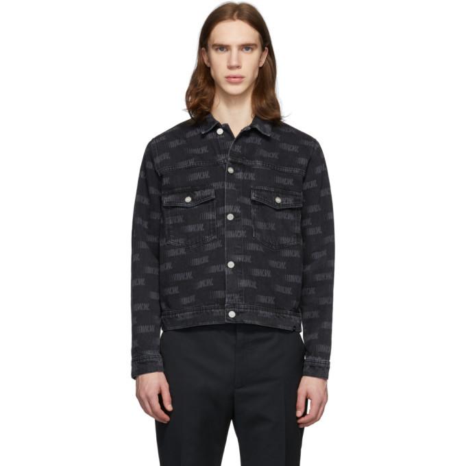 Wood Wood Black Cam Denim Jacket