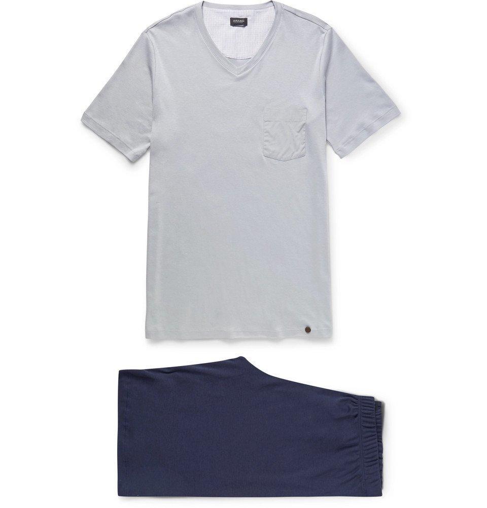 Hanro - Night and Day Cotton-Jersey Pyjama Set - Men - Navy