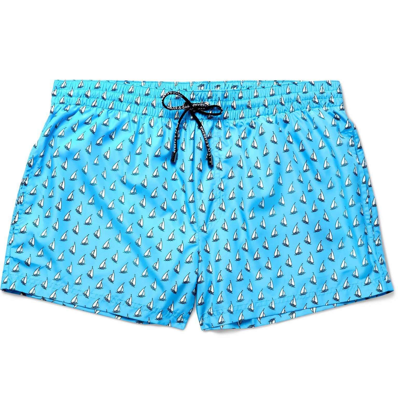 Photo: Dolce & Gabbana - Printed Short-Length Swim Shorts - Blue
