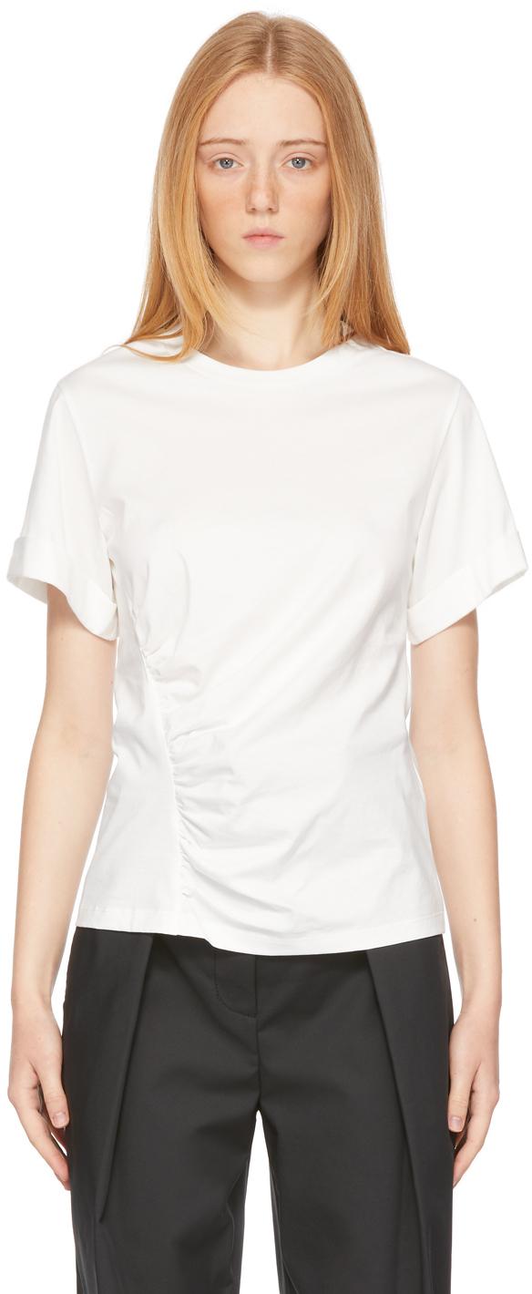 Photo: 3.1 Phillip Lim White Gathered T-Shirt