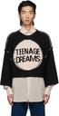 Raf Simons Black Logo Short Oversized Sweater