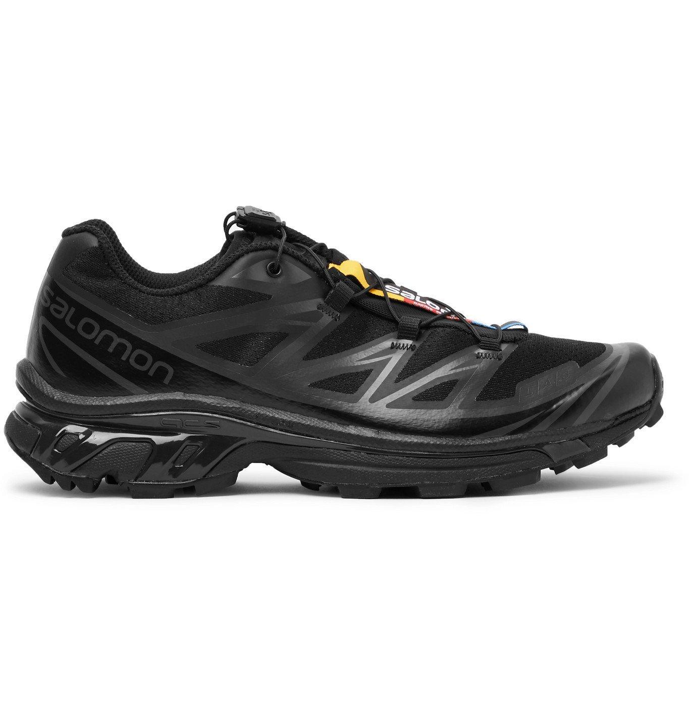 Photo: Salomon - XT-6 ADV Mesh and Rubber Running Sneakers - Black