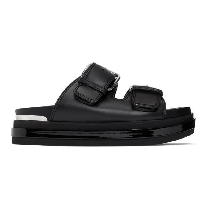 Photo: Alexander McQueen Black Trompe LOeil Flat Sandals