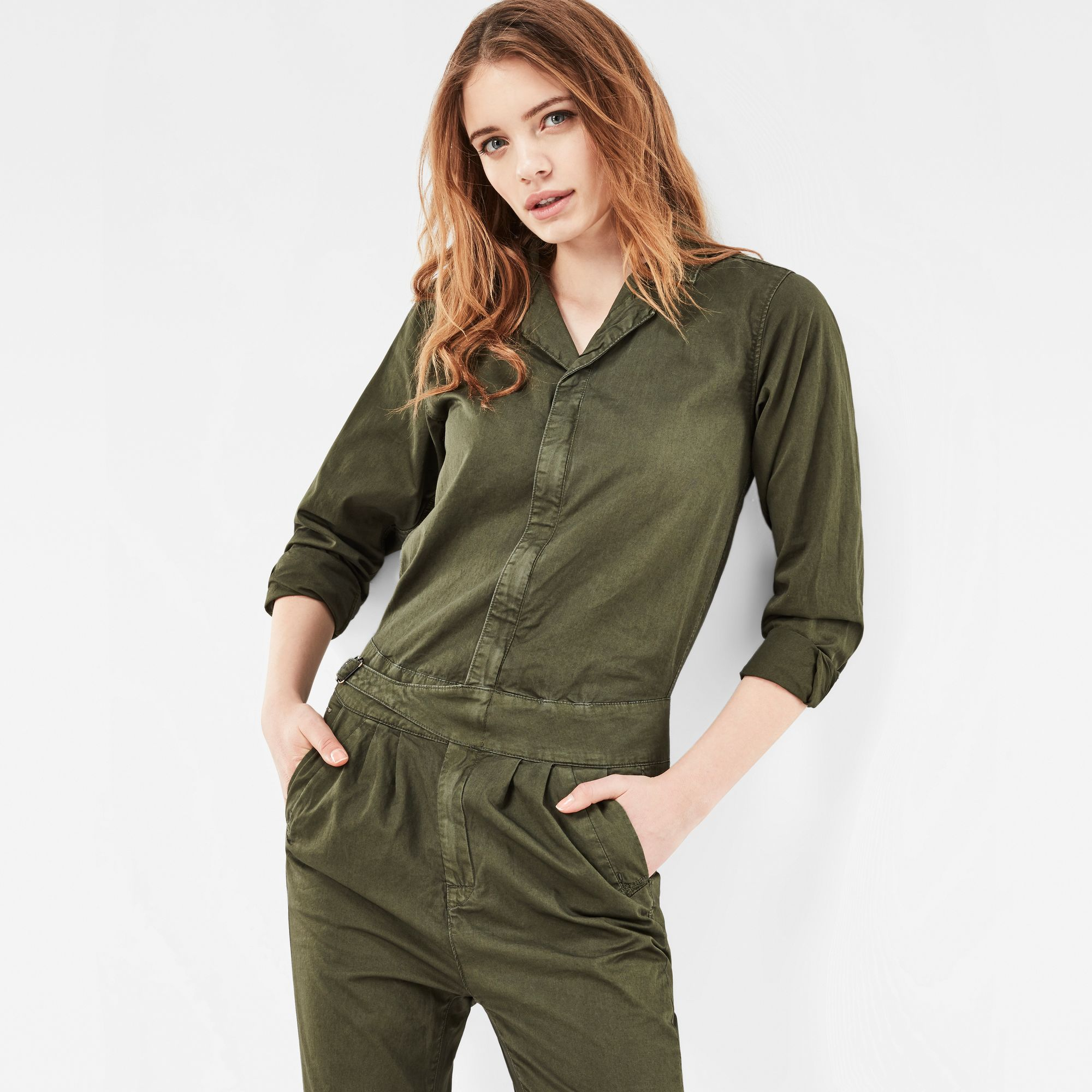 Photo: Bronson Army Boyfriend Jumpsuit