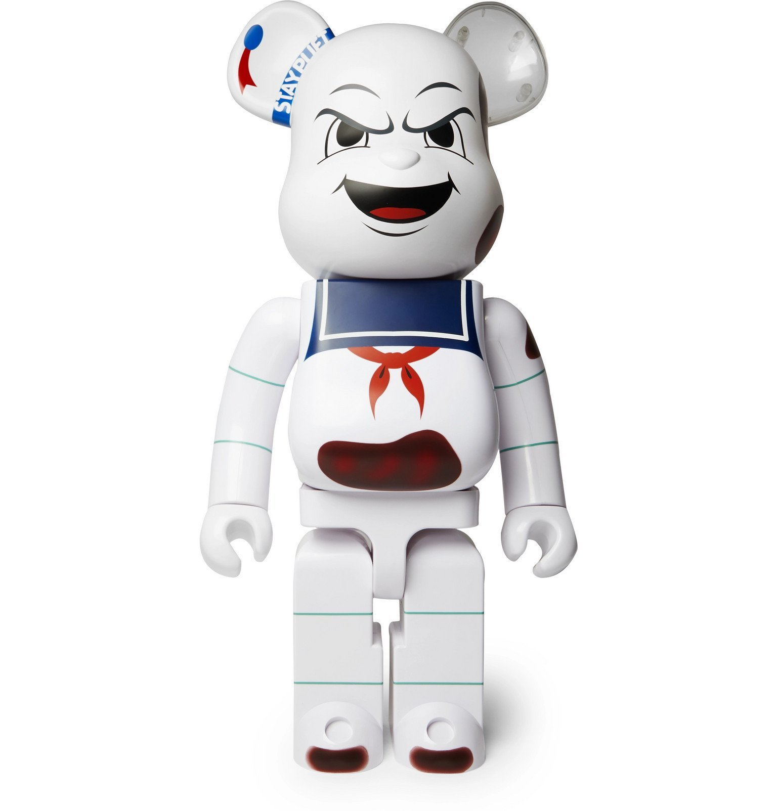 Photo: BE@RBRICK - 1000% Animated Stay Puft Marshmallow Man Figurine - White
