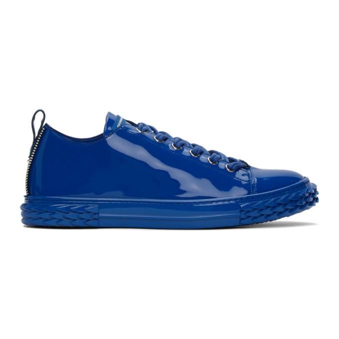 Photo: Giuseppe Zanotti Blue Patent Blabber Sneakers