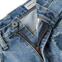KAPITAL - Appliquéd Distressed Denim Jeans - Blue