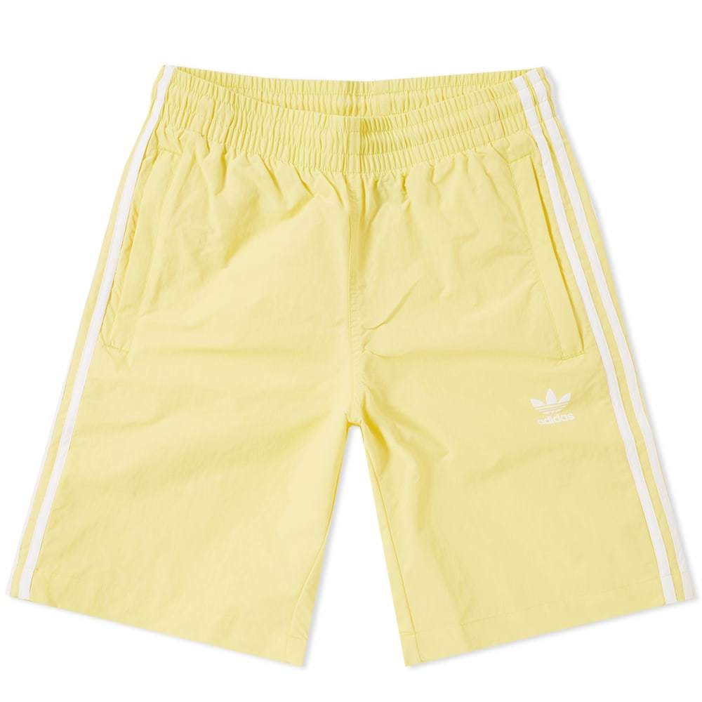 Adidas 3 Stripe Swim Short Yellow