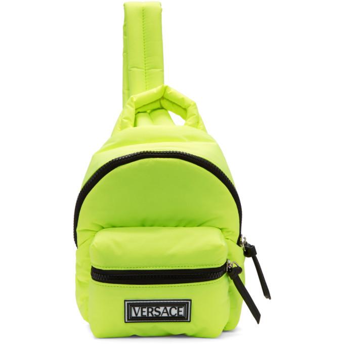 Photo: Versace Yellow Nylon Backpack